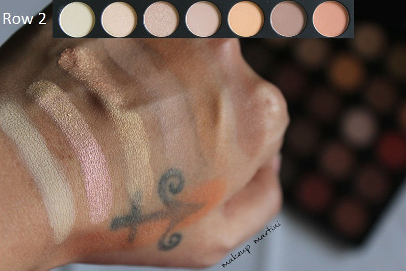 Morphe 35O Eyeshadow Palette swatch row 2
