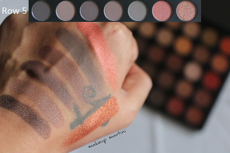 Morphe 35O Eyeshadow Palette swatch row 5
