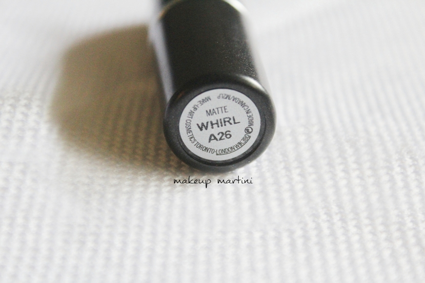 MAC Matte Whirl Lipstick Review