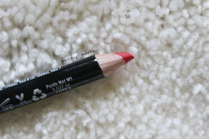 Orange lip liner NYX  review and swatch