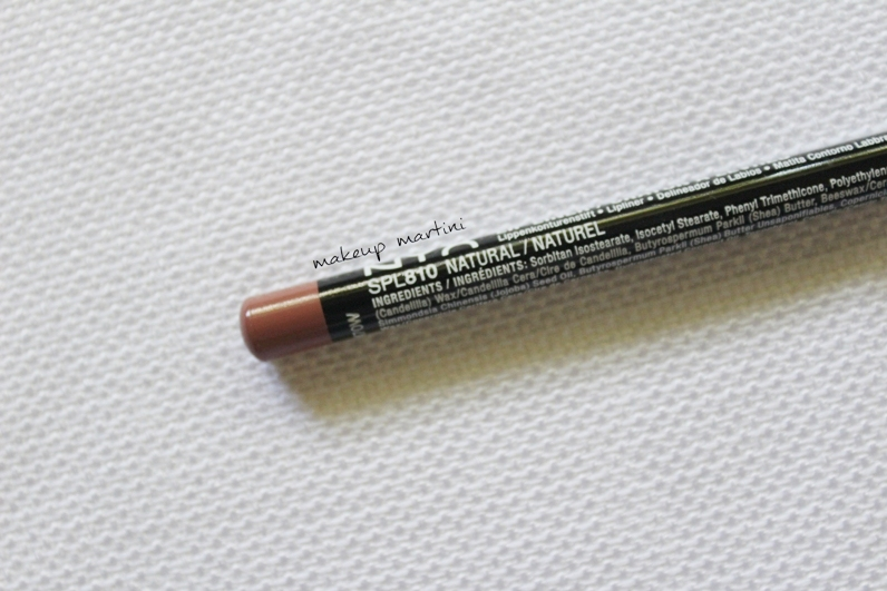 NYX Slim Lip Pencil Natural Review and Swatch