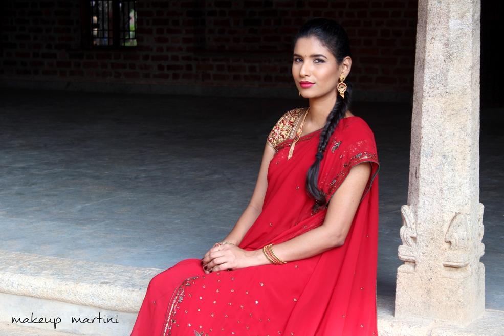 Draping Traditional Indian Saree