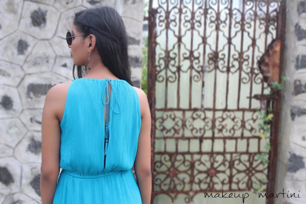 Drawstring Back Maxi Dress