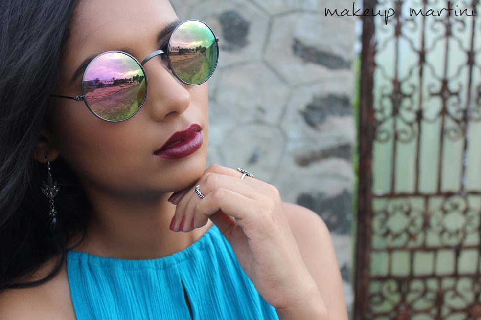 Styling Round Sunglasses With Maxi Dress