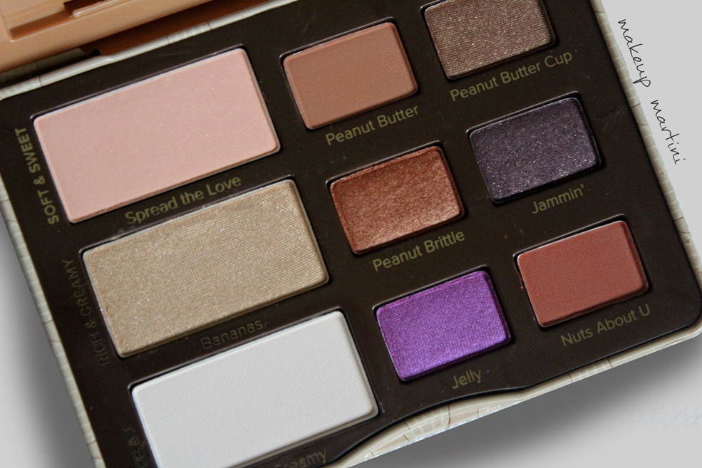 Too Faced Peanut Butter and Jelly Palette Review