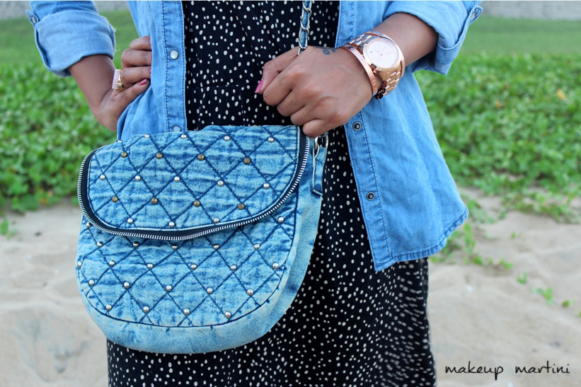 Matching Denim Bag for the Chambray Shirt