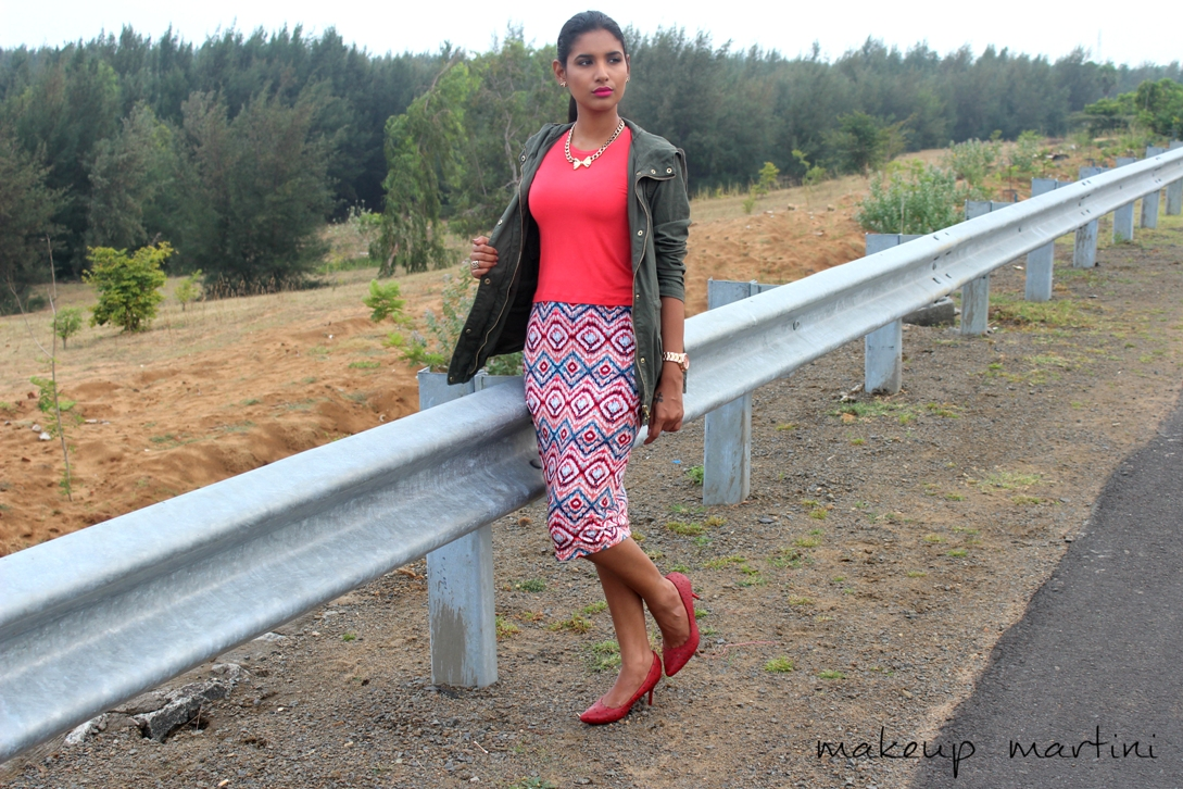 How To Style Printed Pencil Skirt