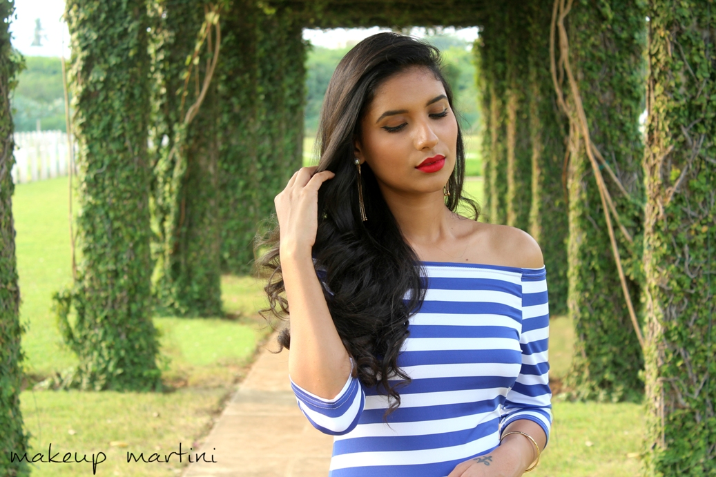 Styling Striped Bardot Bodycon Dress OOTD