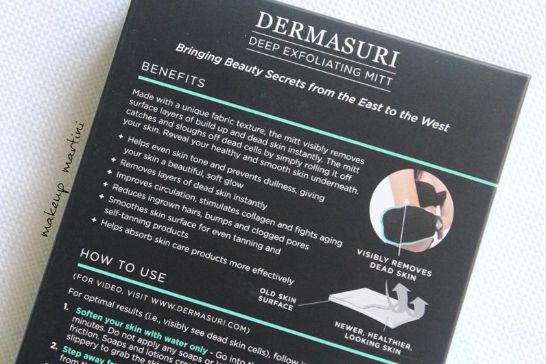 Dermasuri Deep Exfoliating Body Mitt