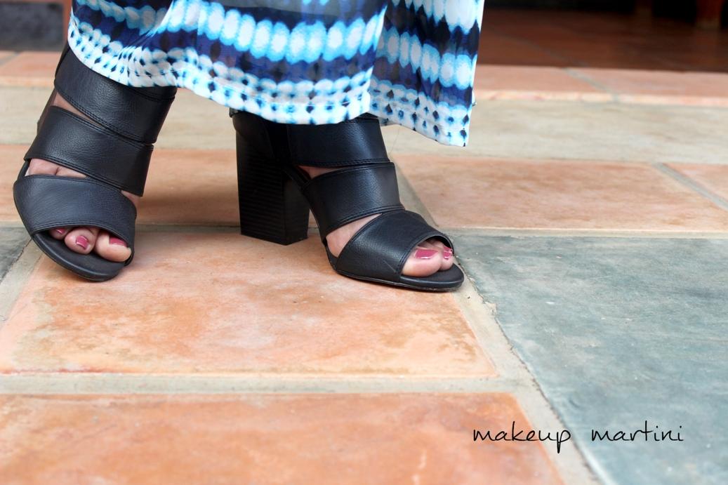JustFab Chunky Black Heels