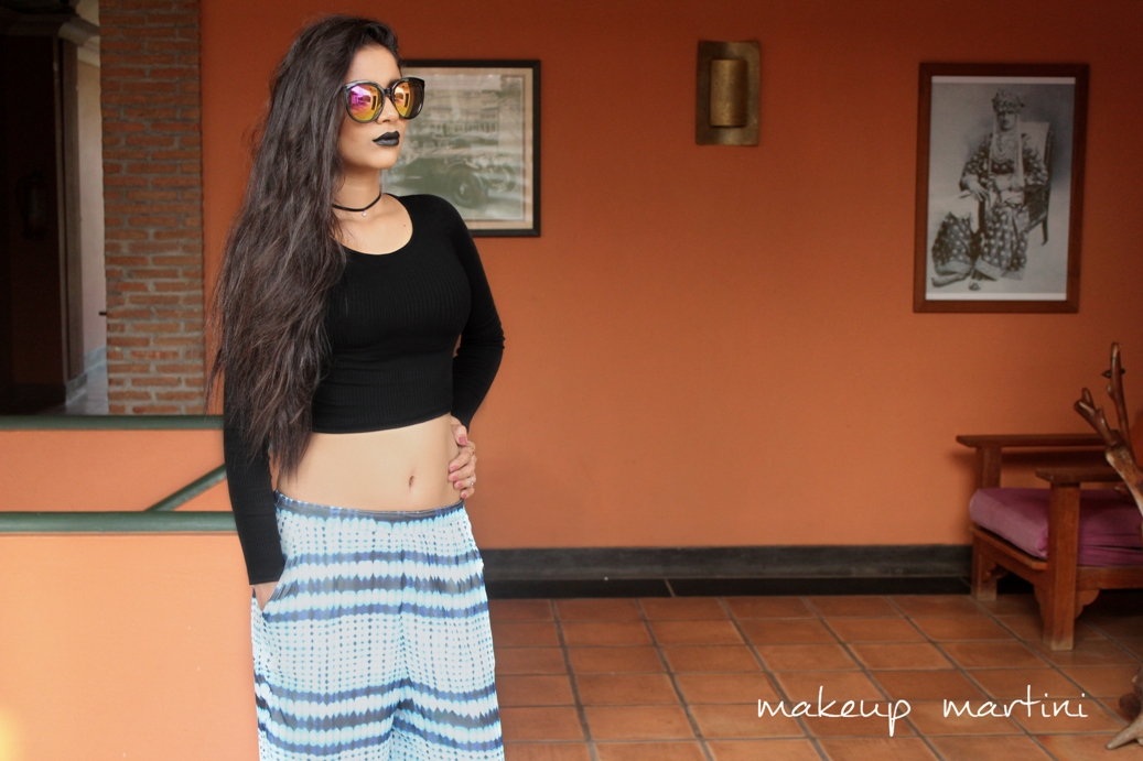Styling Crop Top and Palazzos