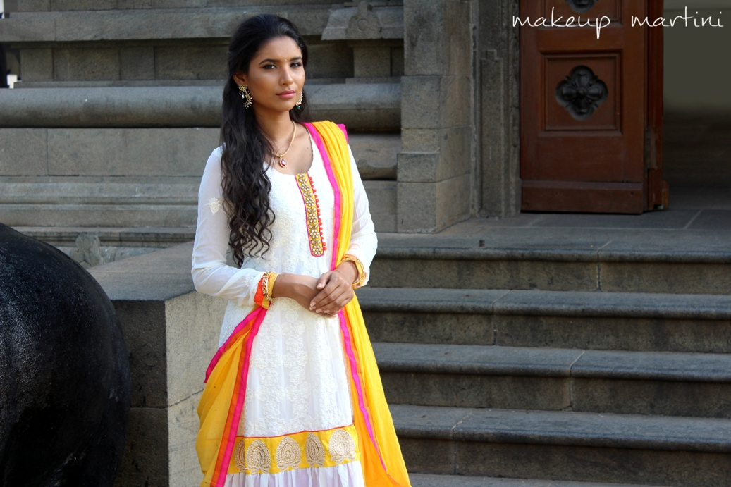 Styling Off White Anarkali OOTD