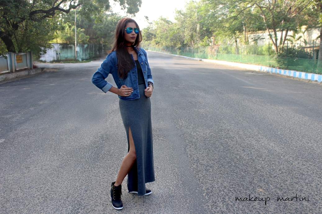 Styling Maxi Skirt With Thigh High Slit
