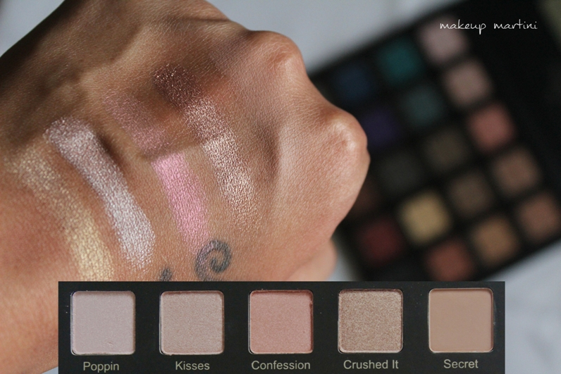 Violet Voss Drenched Metal Palette Review and Swatch - row 1