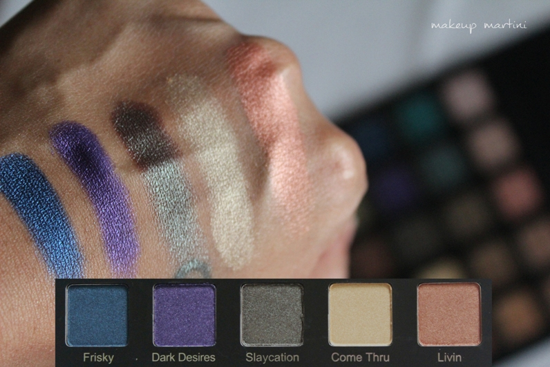 Violet Voss Drenched Metal Palette Review and Swatch - row 3