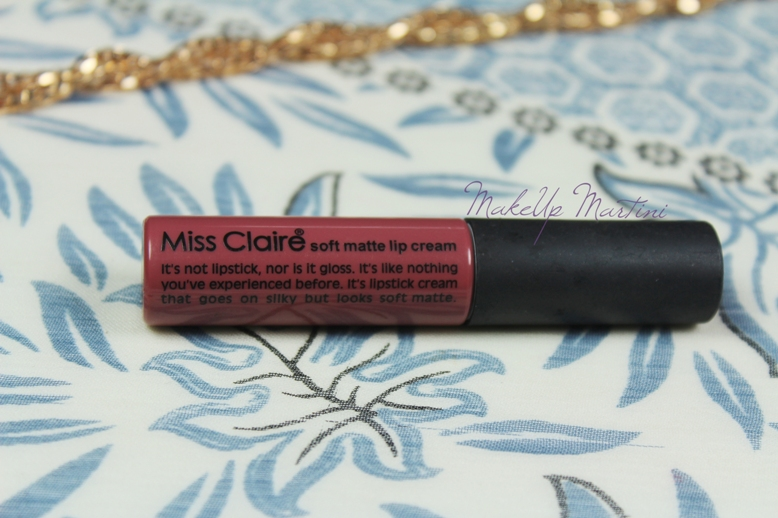 Miss Claire Soft Matte Lip Cream Review and Swatches