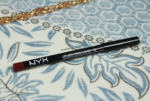 NYX Deep Red Lip Liner Review and Swatch