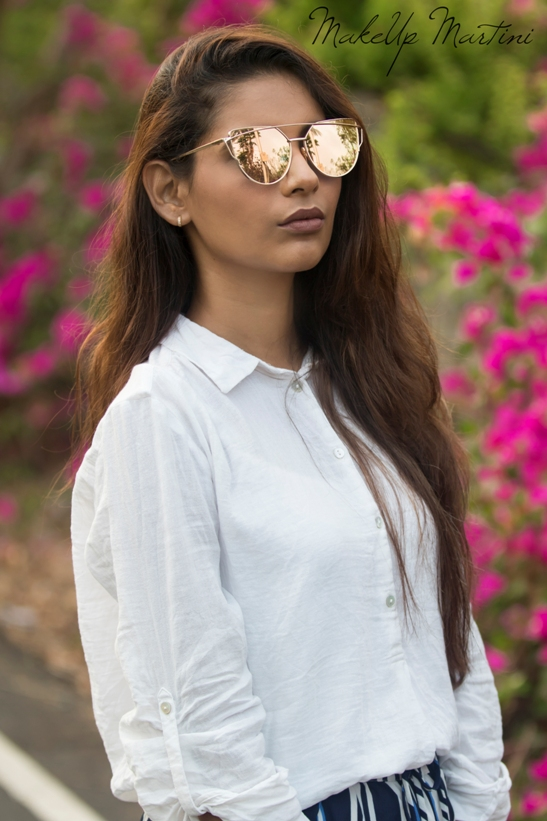 Styling Rose Gold Sunglasses