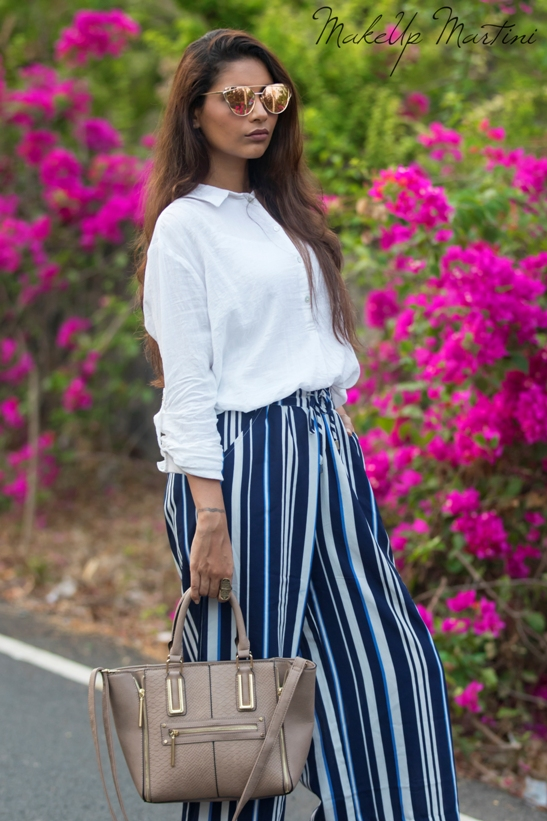 Styling Striped Palazzos