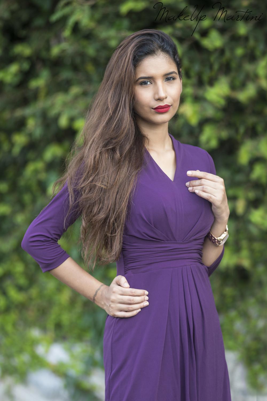 Simple Purple Dress For Work