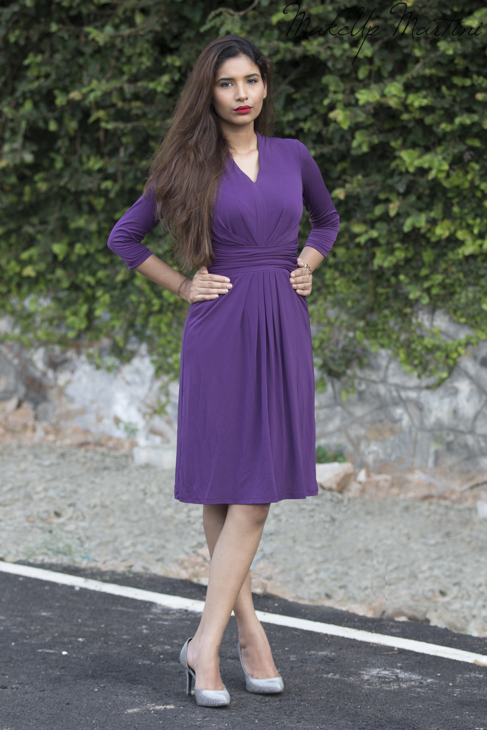 Simple Purple Sheath Dress For Work