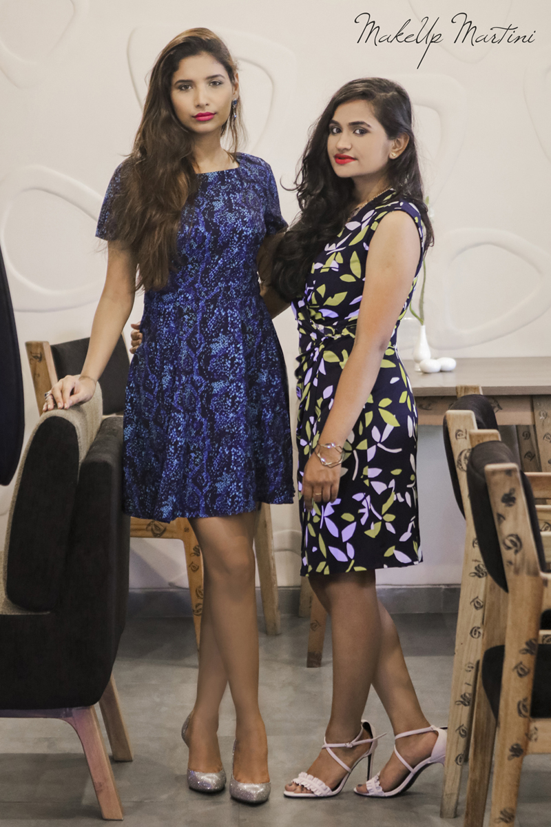 Skater dress and Wrap dress outfit