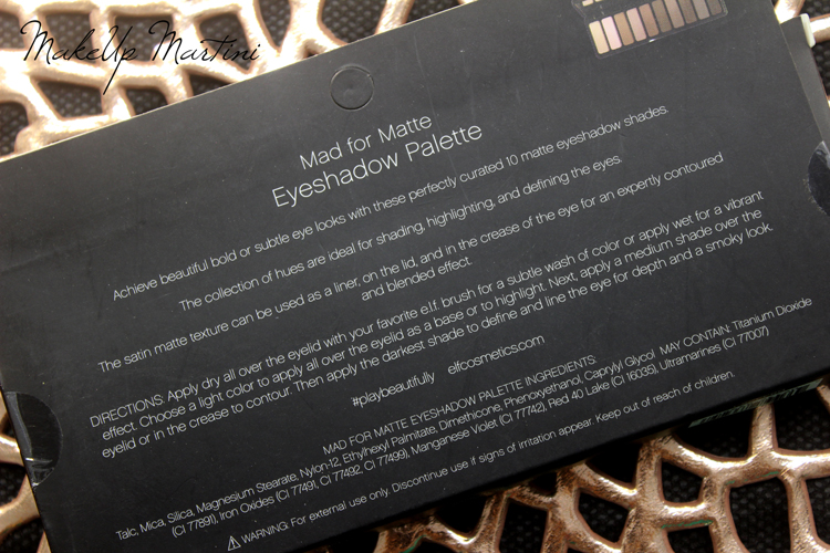 ELF Mad For Matte Palette Review