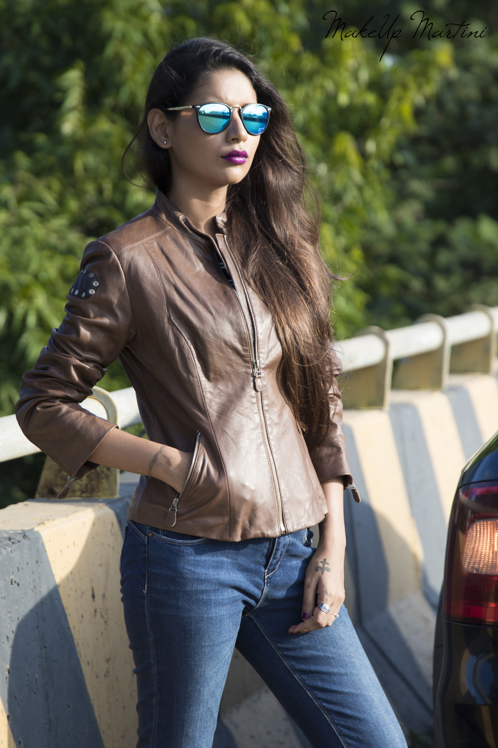 How To Style Leather Jacket Female