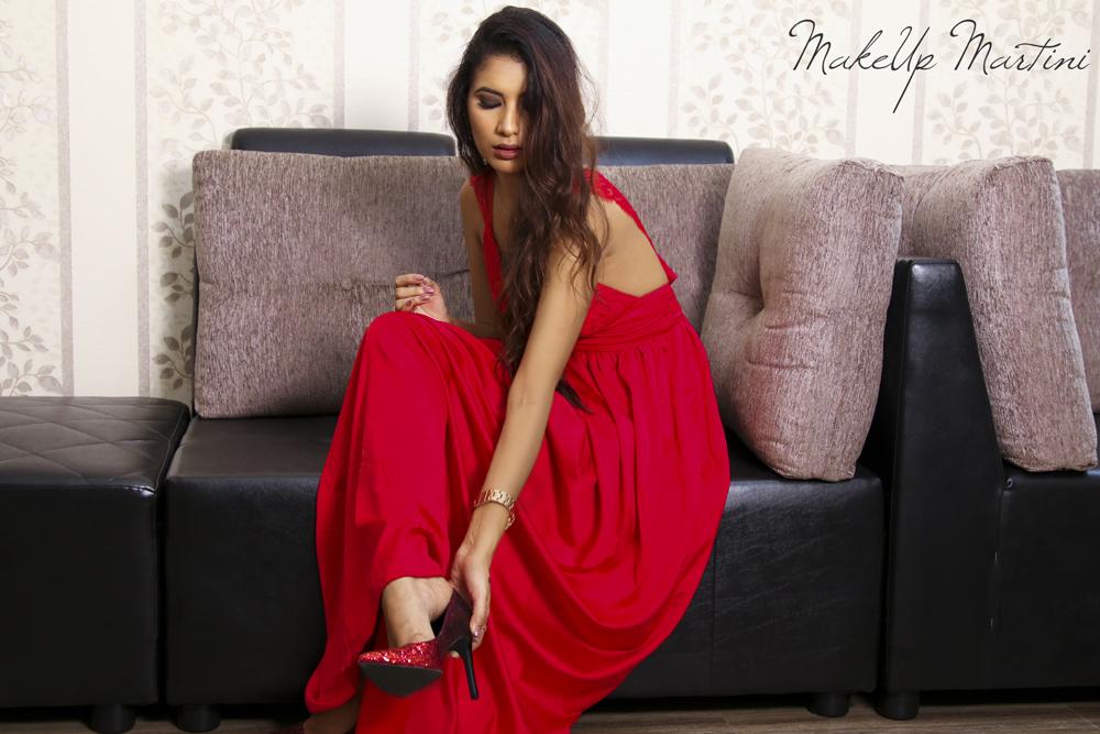 Glam & Flirty Red Maxi Dress