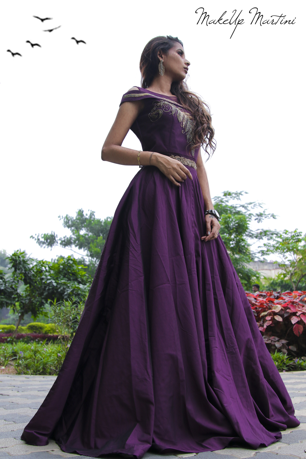 Purple Gown for Bridesmaid OOTD