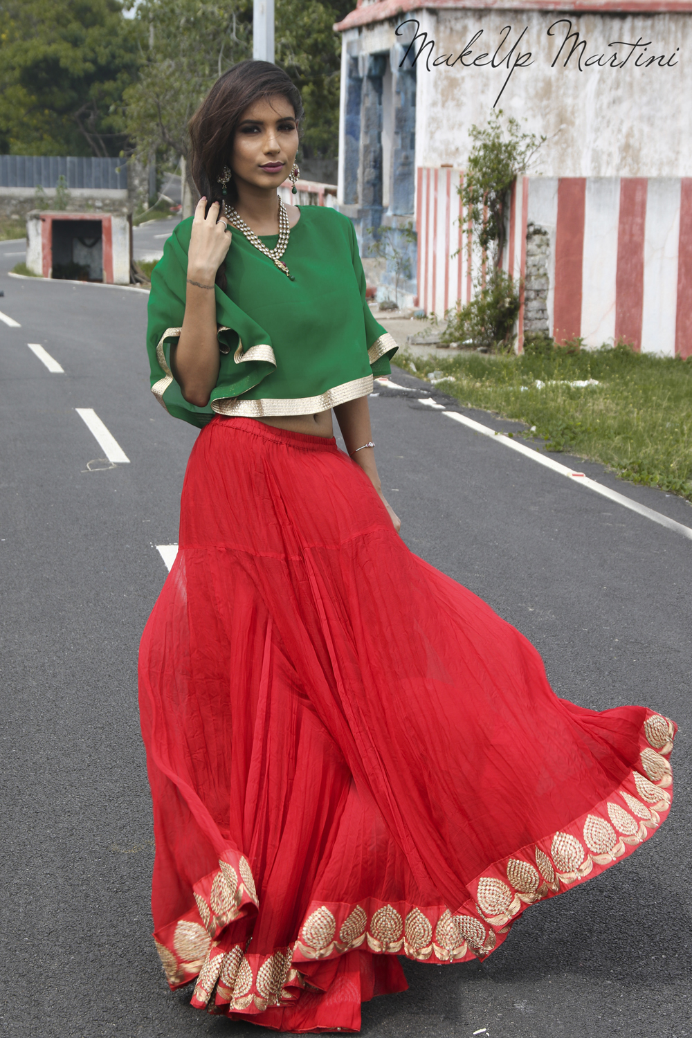 Styling Ethnic Cape Top For Special Occasions