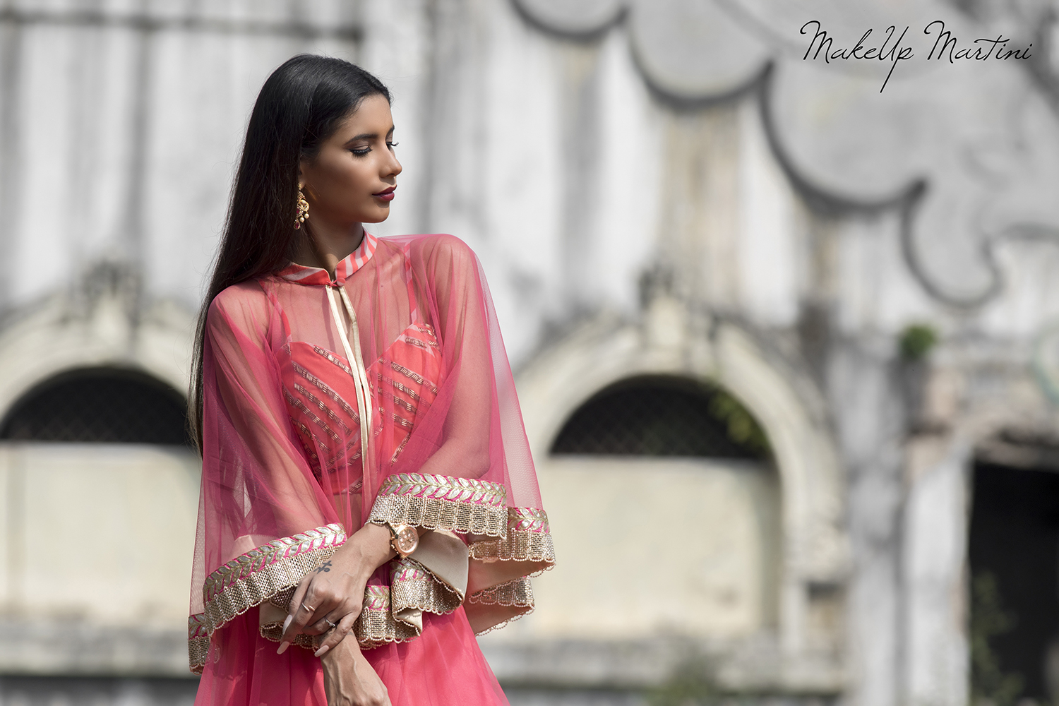 Sheer Cape Jacket For Lehenga
