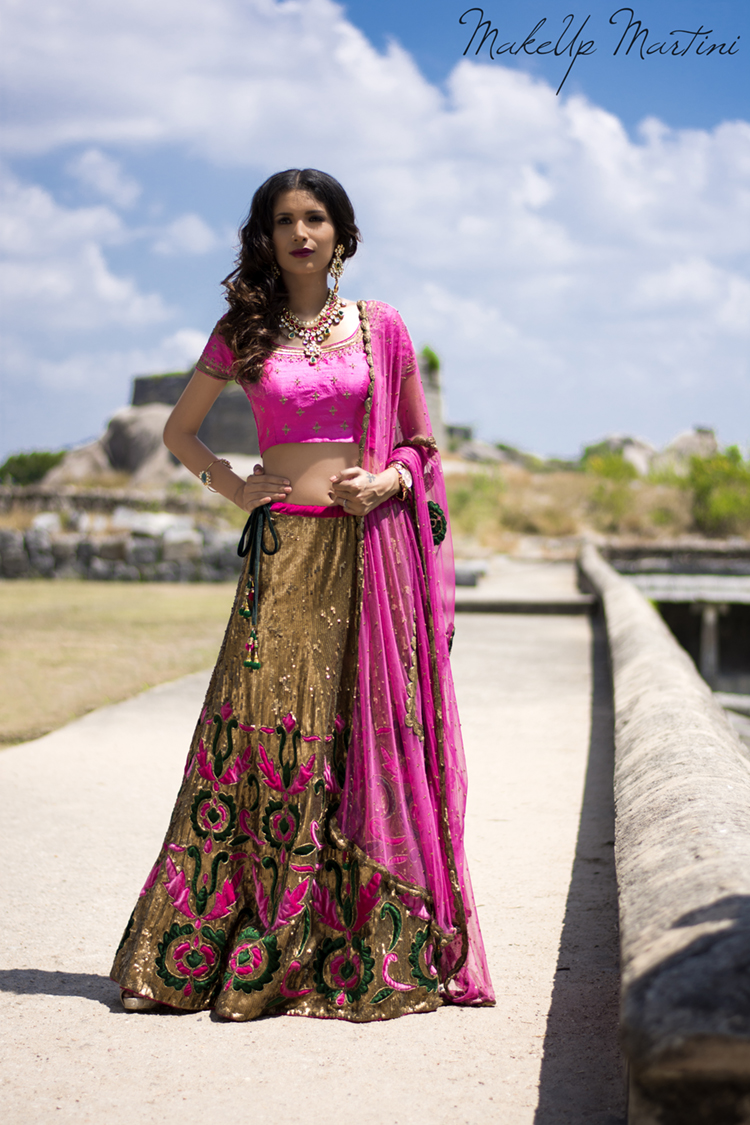 Regal Gold Sequin Lehenga