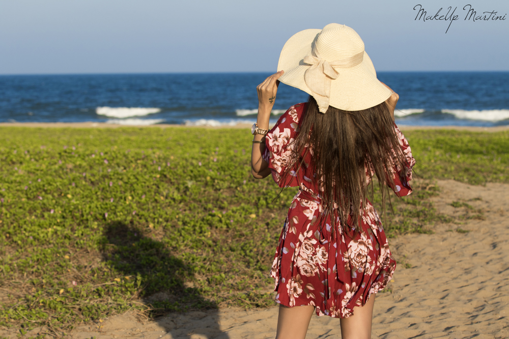 Spring Fling With Floral Maroon Playsuits