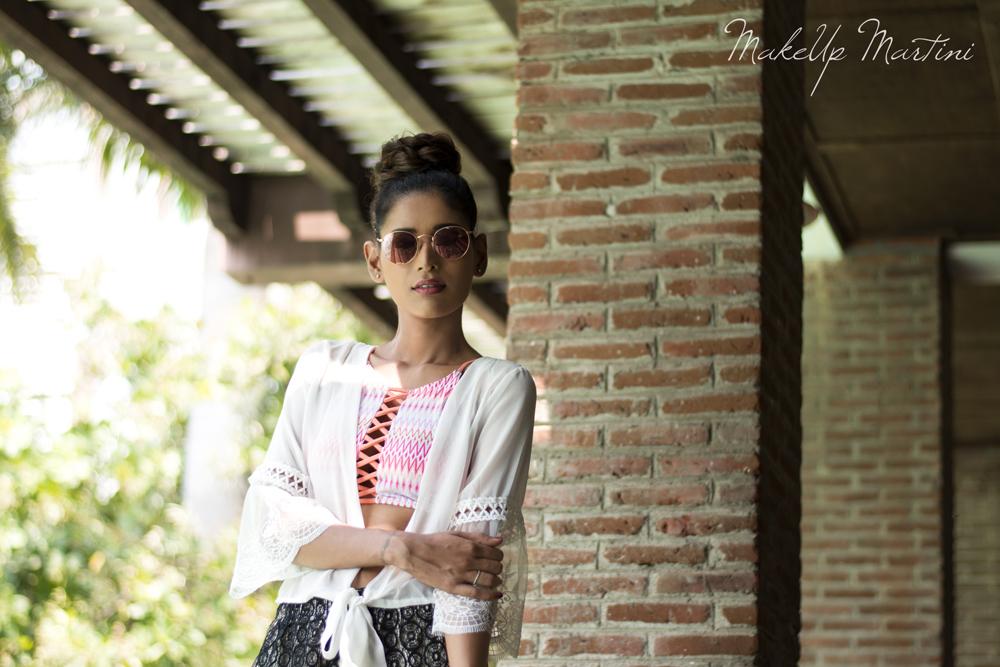 Styling Sheer White Kimono Top
