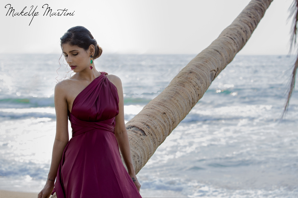 Burgundy One Shoulder Grecian Maxi