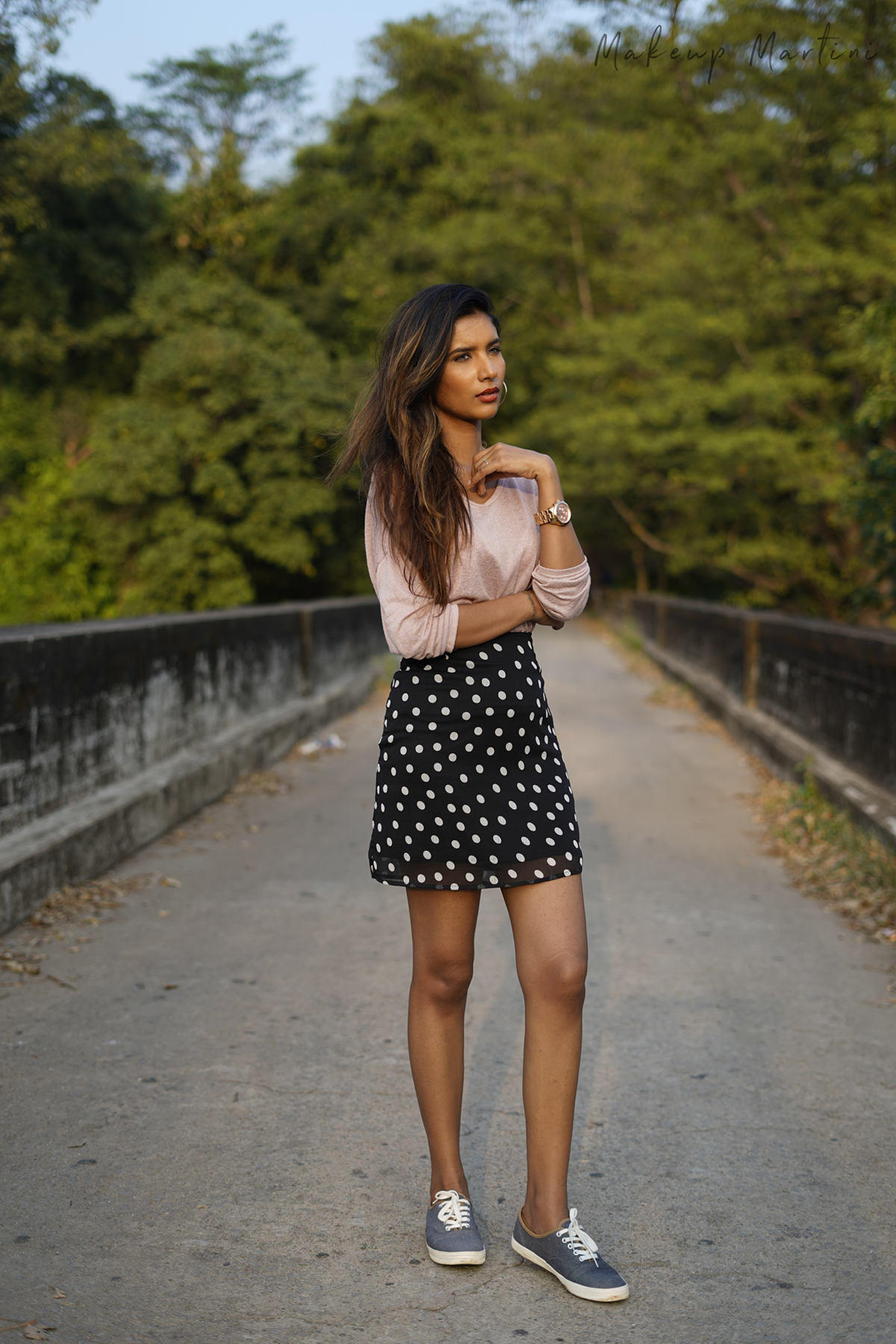 Polka Dotted Mini Skirt