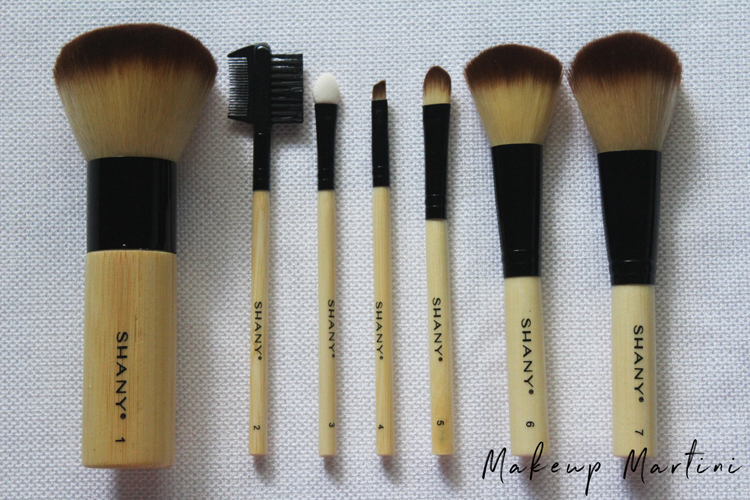 Shany 7 Piece Bamboo Makeup Brush Set Review
